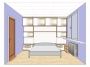 3D návrh ložnice 2